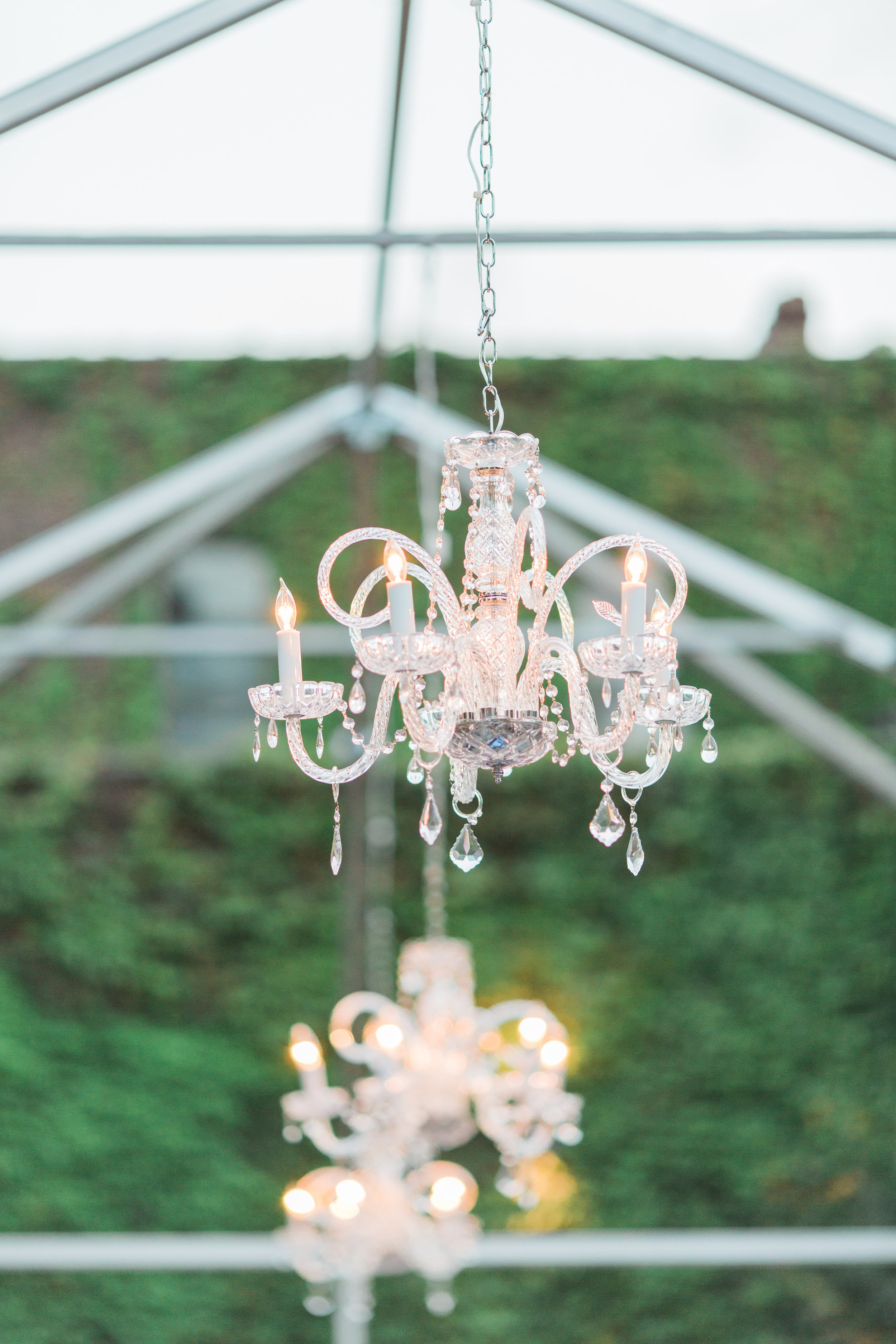 Dancing & Dessert chandelier styling