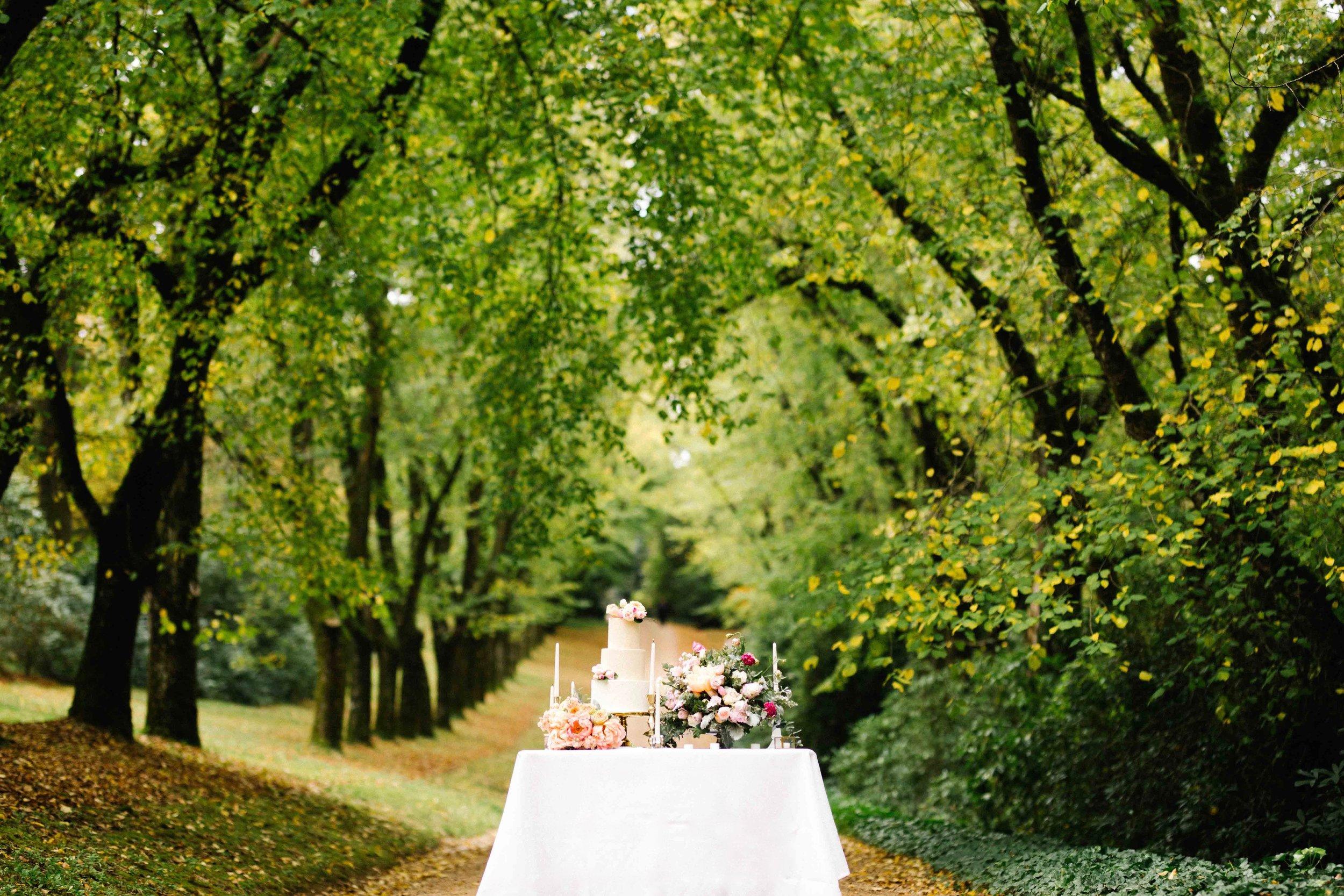 Dancing & Dessert Autumn Wedding Cake Table