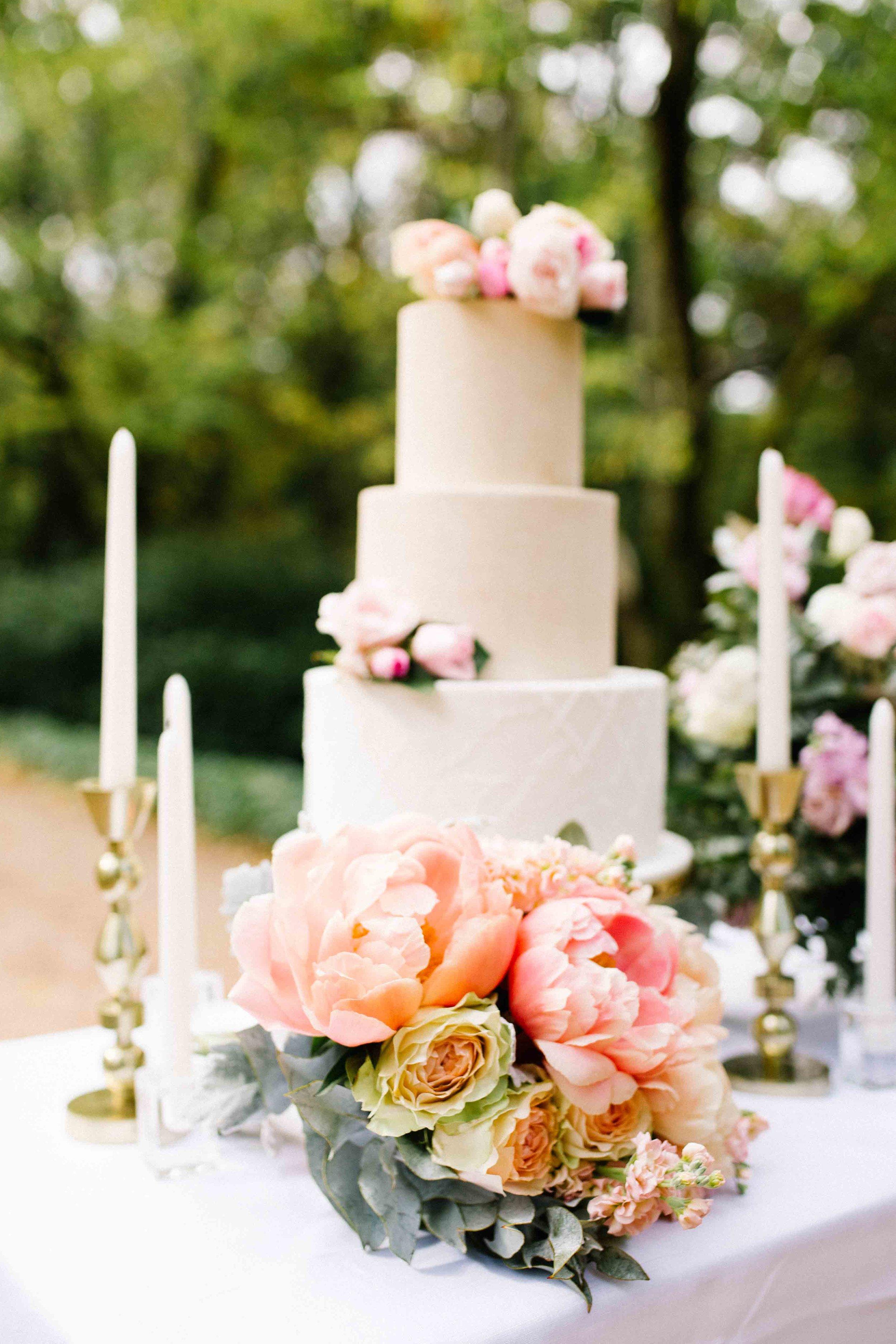 Dancing & Dessert Wedding Stylist Cake Table