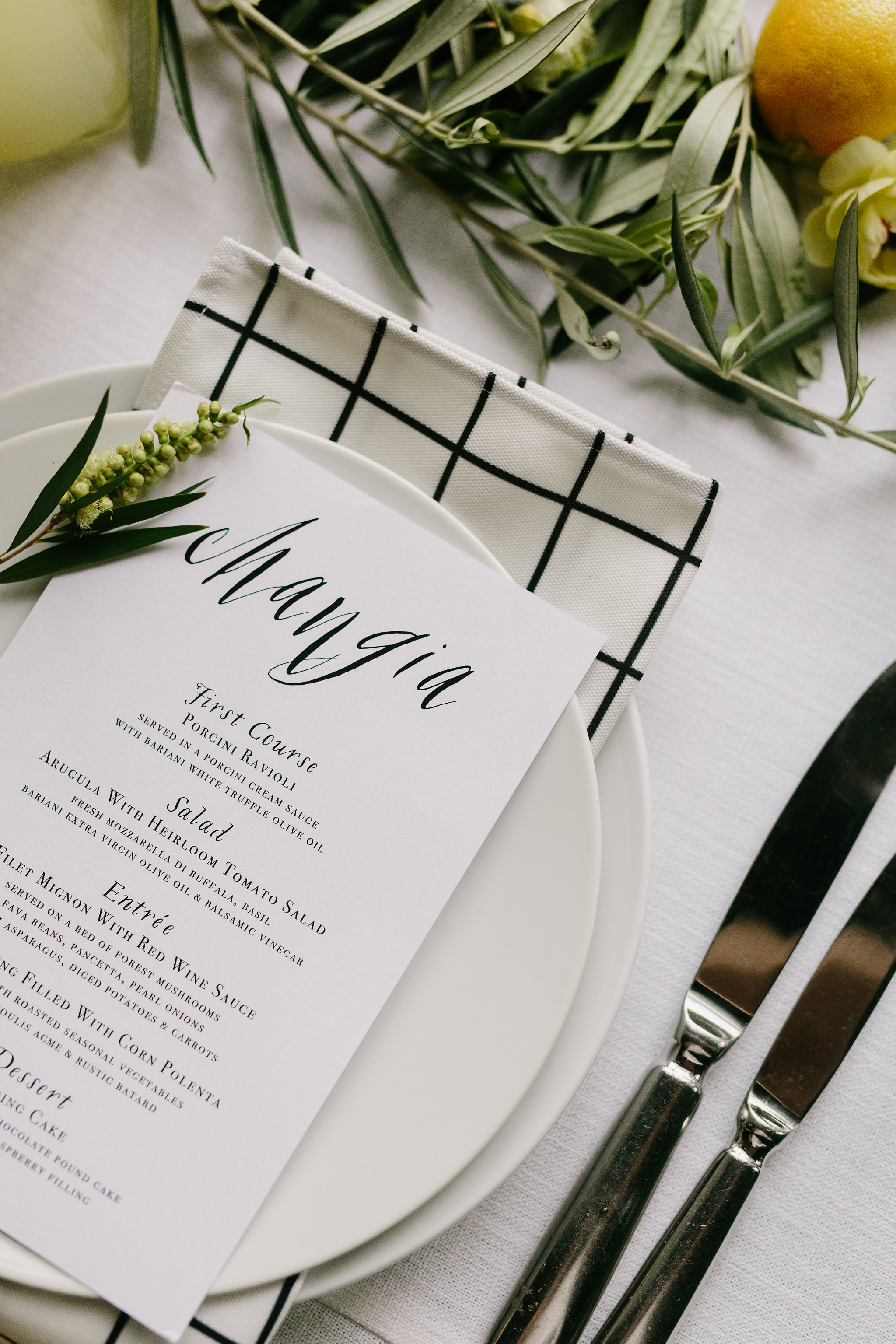 Italia themed wedding