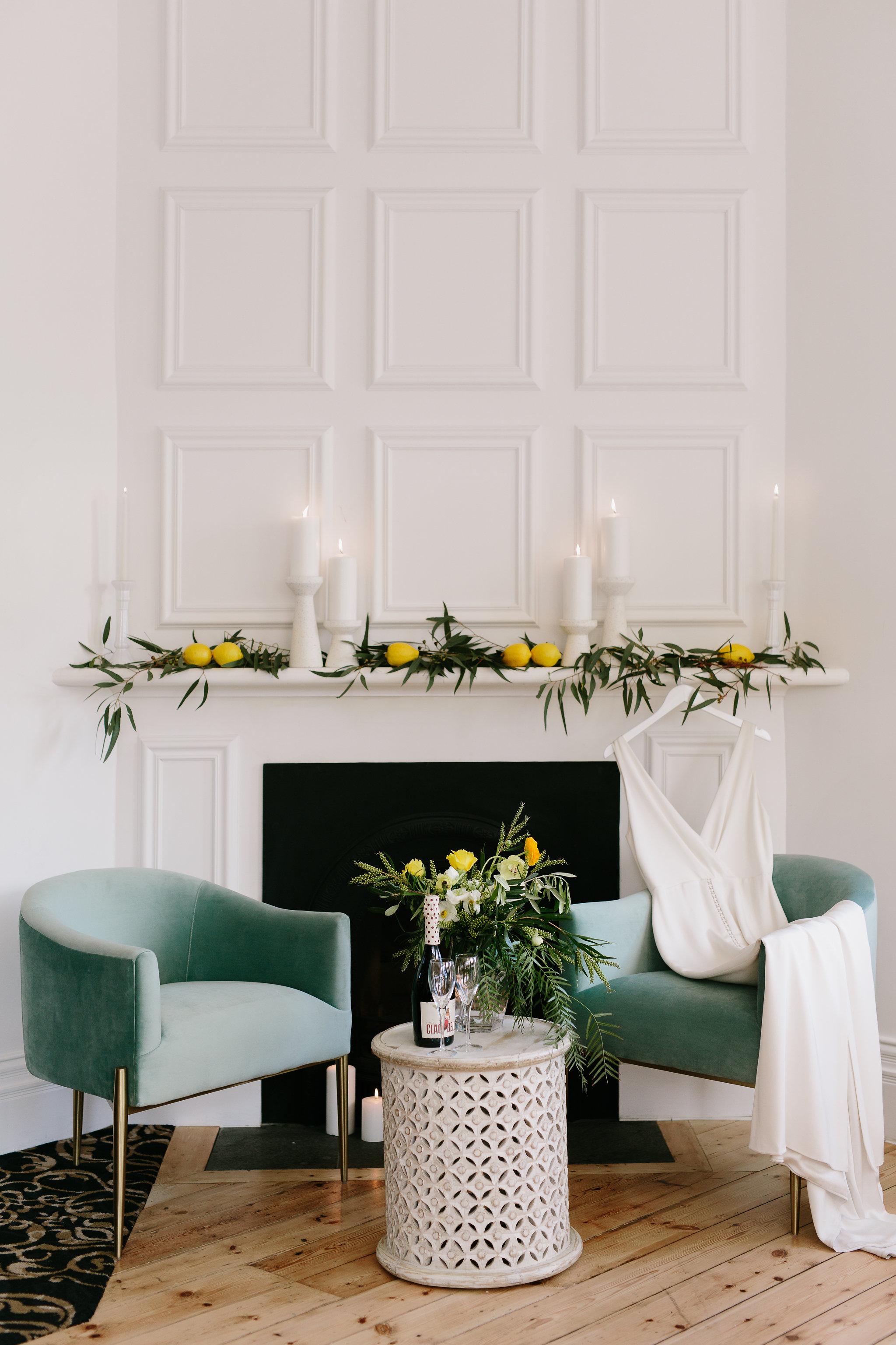 Italia themed wedding lounge