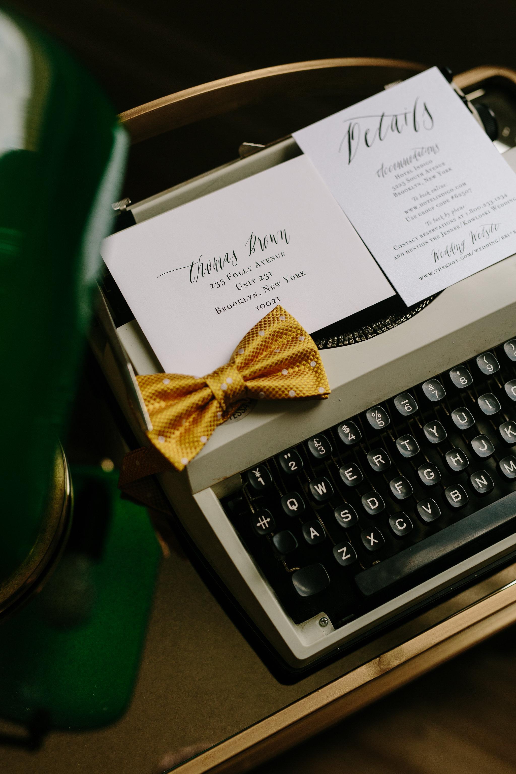 Italia Editorial shoot Yellow Bow Tie