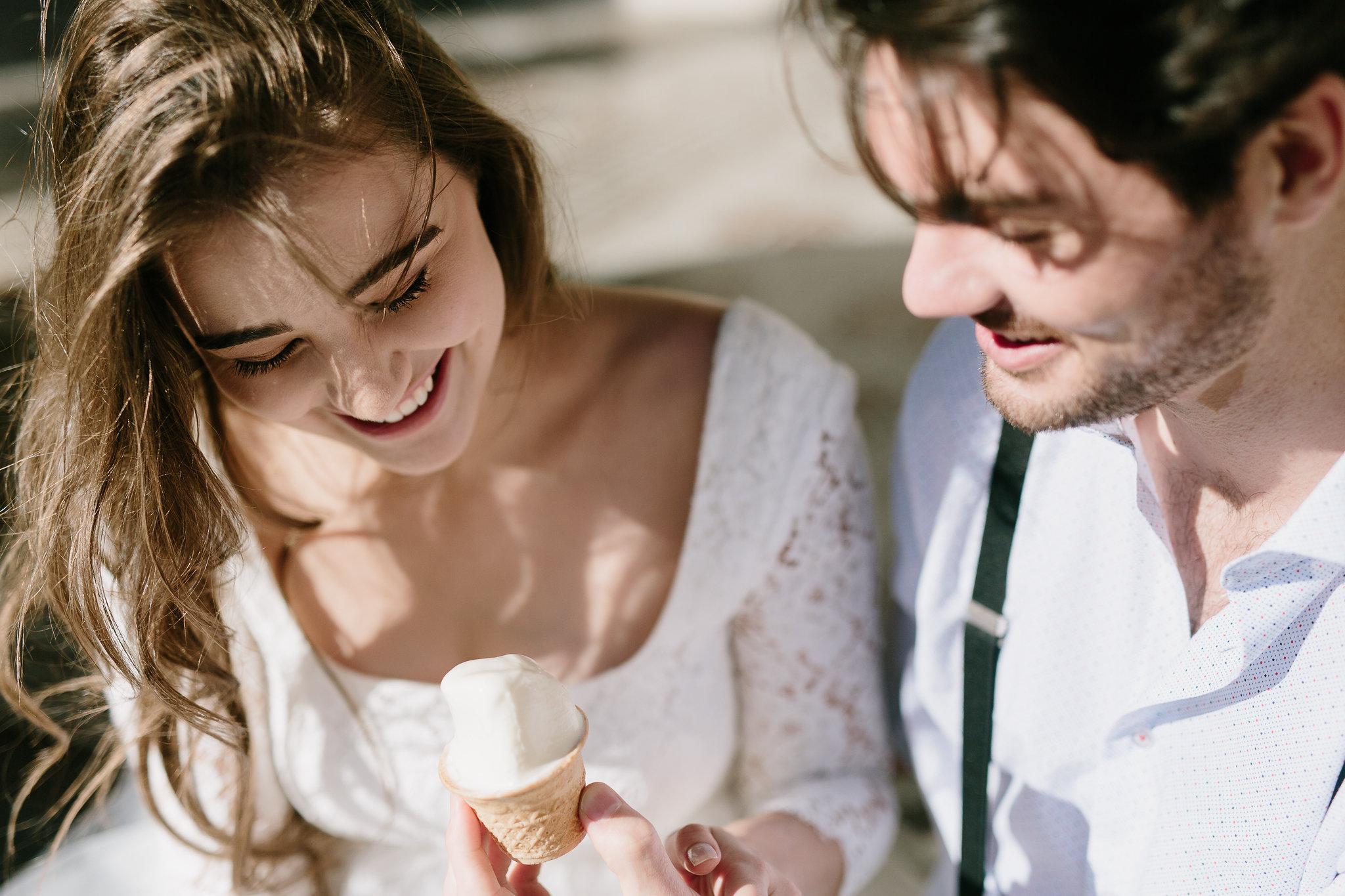 Italia Wedding Editorial Photoshoot Ice cream