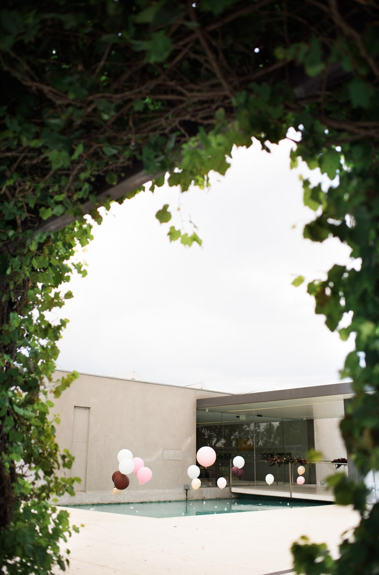 Romantic Melbourne Wedding Balloons in Pool
