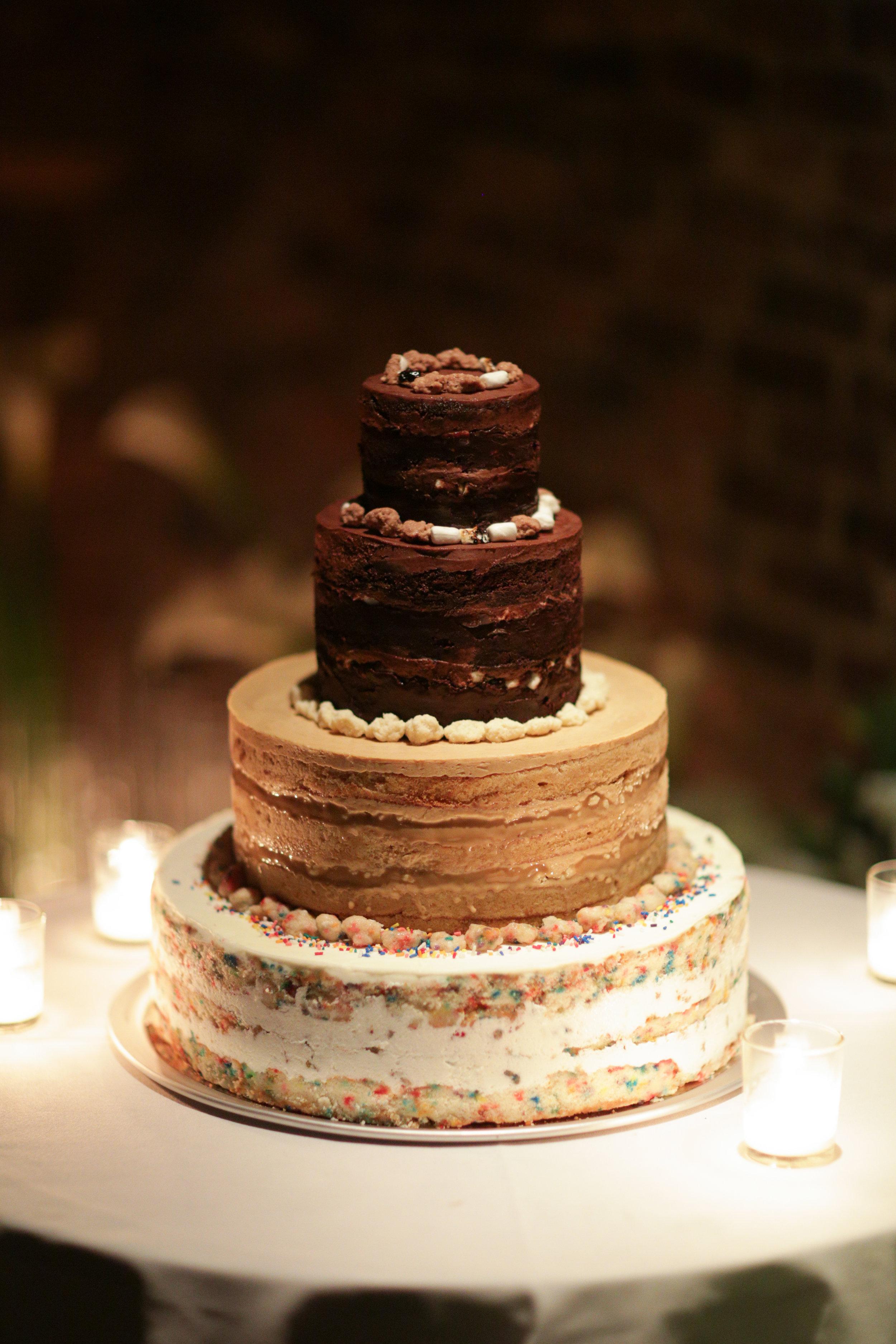 3 tier Milk Bar Wedding cake