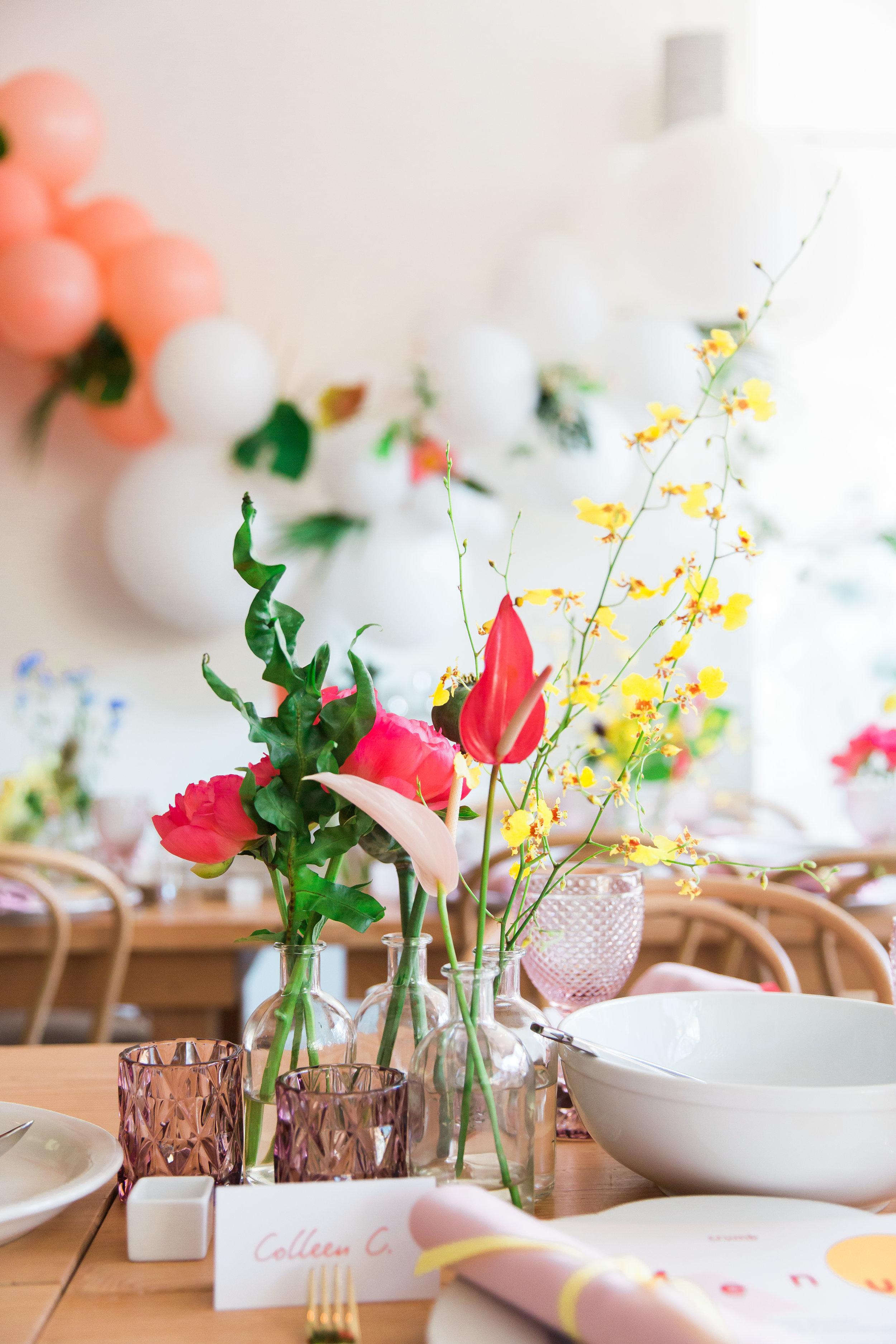 Floral Arrangement Dancing & Dessert