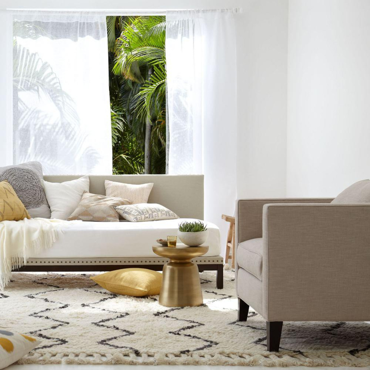 WEST ELM Souk Wool Rug - Ivory  $223.00 - $1343.00