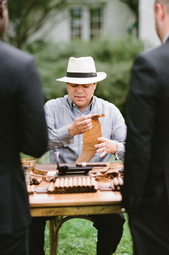 Cigar roller wedding