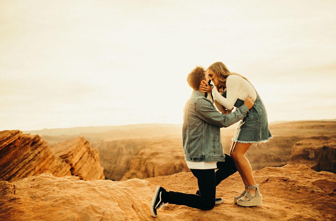 Dancing & Dessert - non-cheesy Valentines day proposal