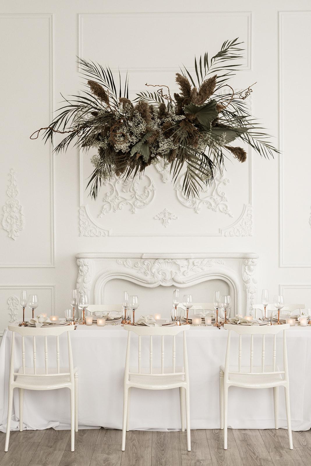 Wedding planner table setting