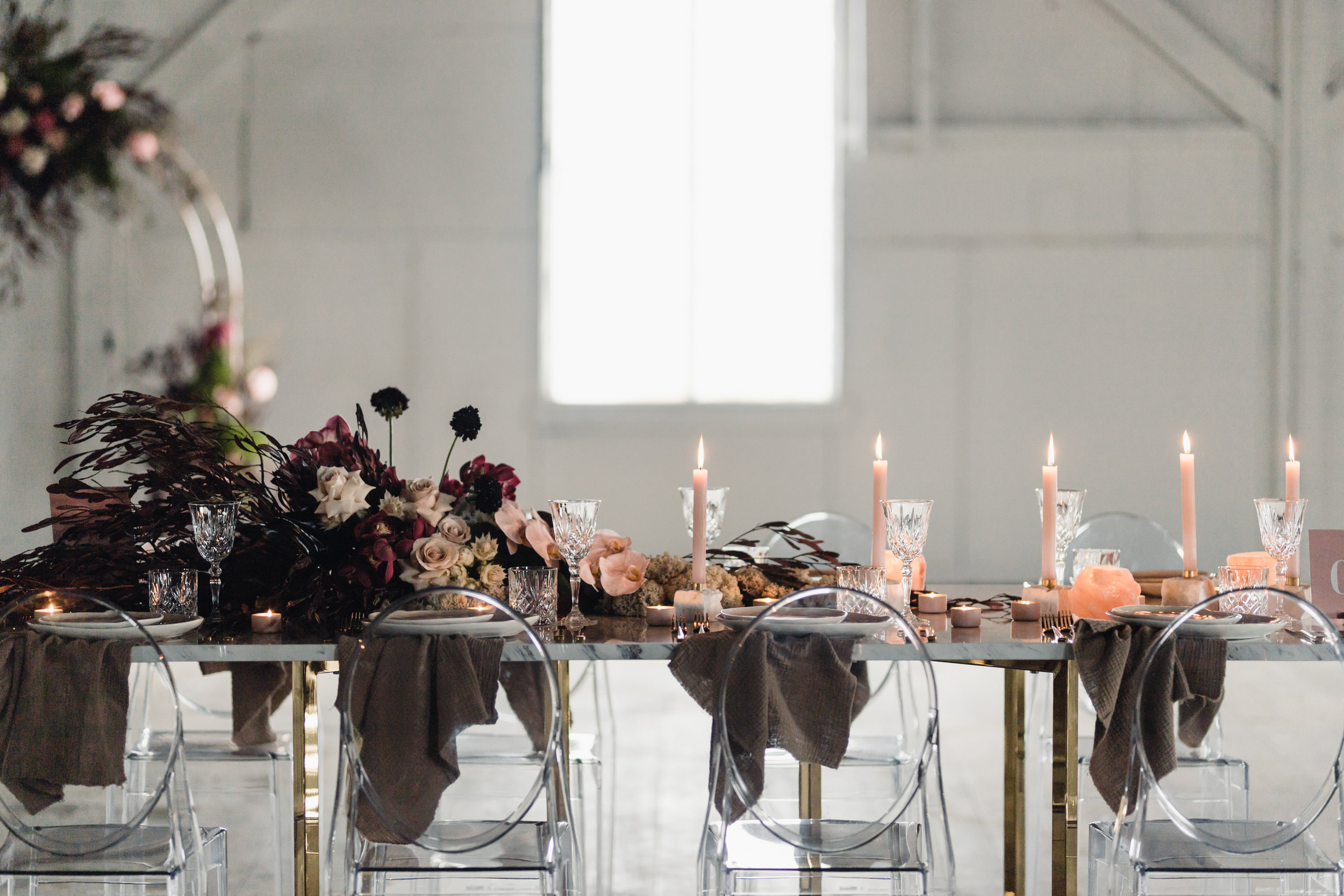 Gather & Tailor - Featuring industrial lighting, beautiful timber floors and exposed beams. Gather and Tailor is a perfect blank page on which to write your celebration.