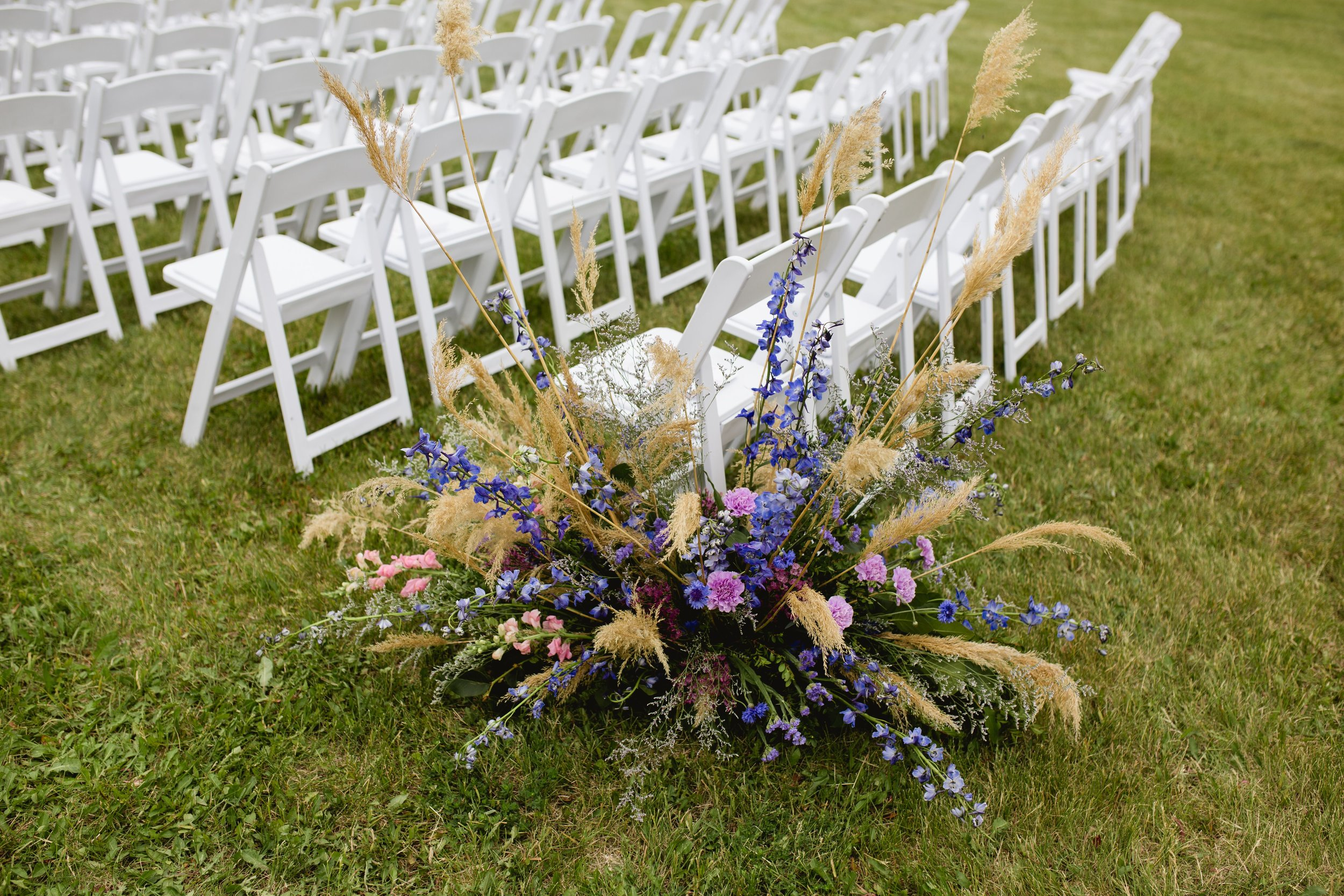 Colourful ceremony flowers
