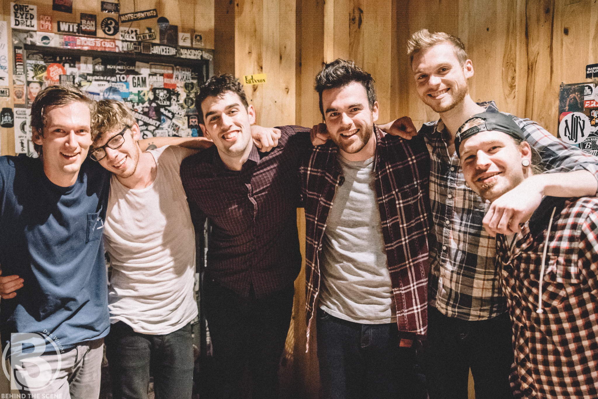 Paradise Fears, backstage following their album release show