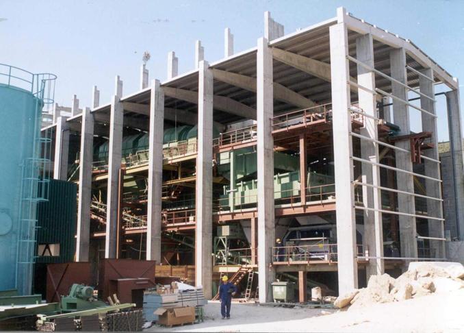 Montaje de planta de resíduos sólidos