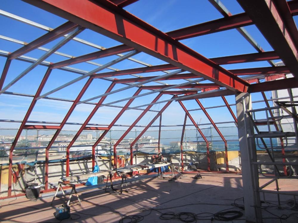 Fabricación de estructuras metálicas para ampliación de altura