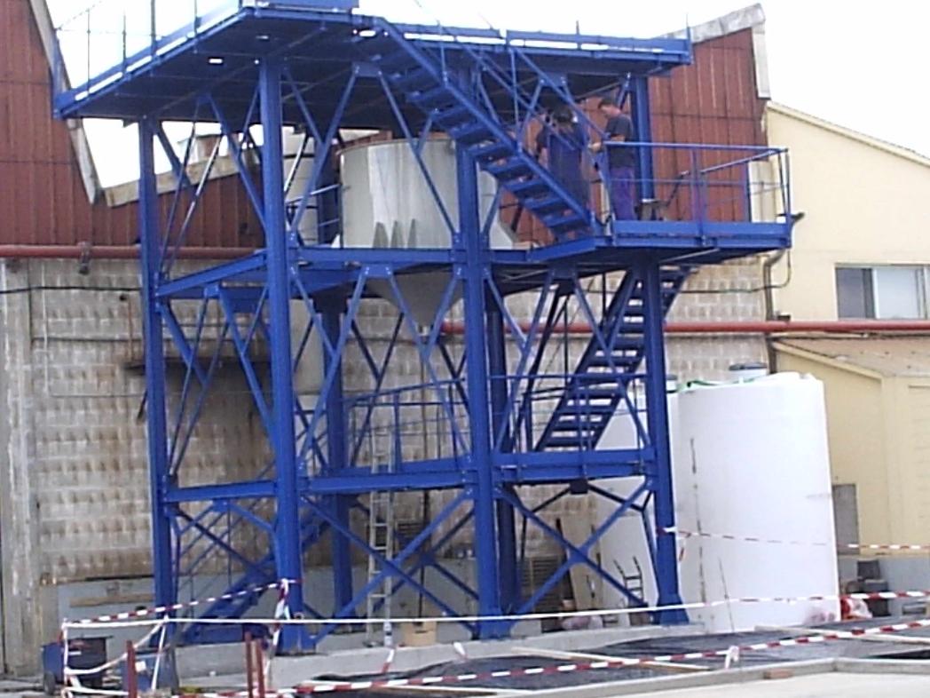 Fabricación de estructura metálica en Emesa Trefilería