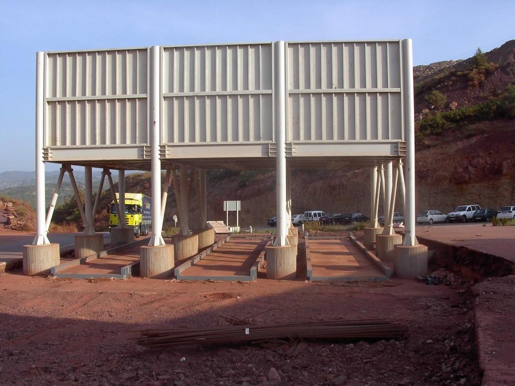 Montaje de silos en cantera (Castellón)