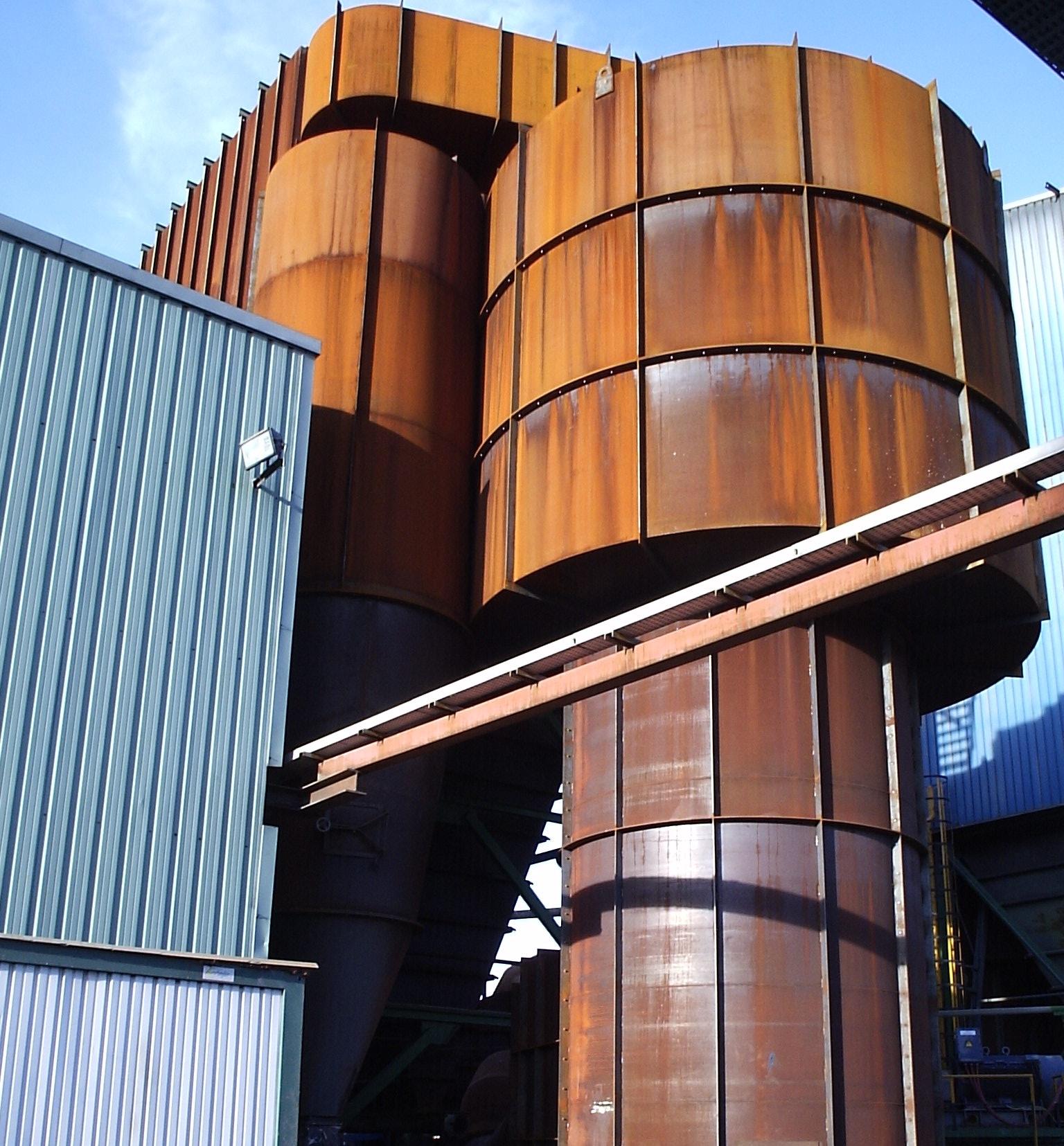 Montaje de radiclones de hornos en Ferroatlántica Sabón