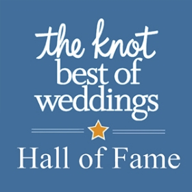 Inducted into the HALL OF FAME from The Knot Best of Weddings in 2014.
