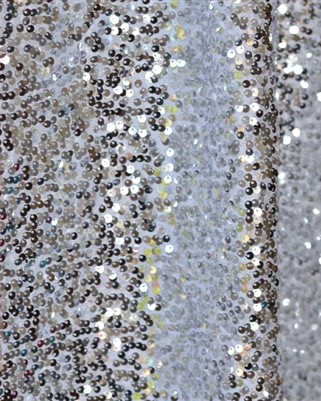 Silver Sequin Curtain