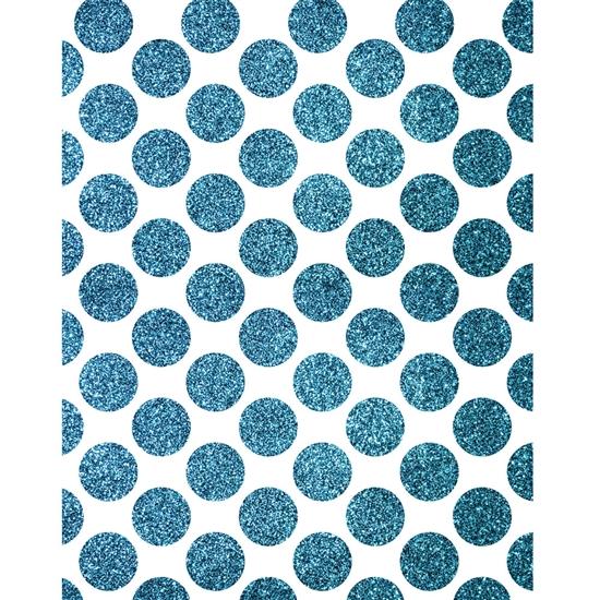 Blue Shimmer Dots