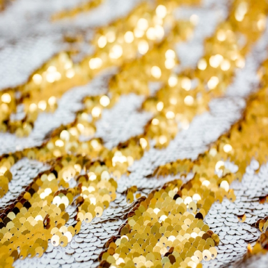 Dual Color Sequin - White/Gold