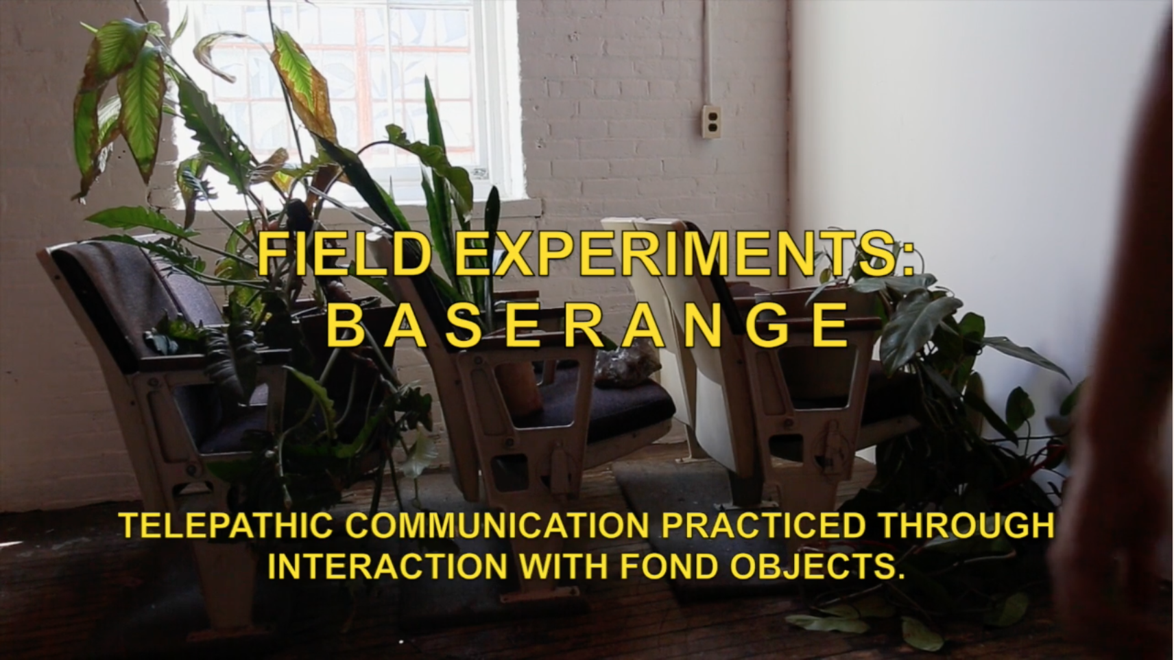 field experiments: base range  2017 telepathic communication through ritual interaction with fond objects created and collected by the artist   click through for a short film documenting the process