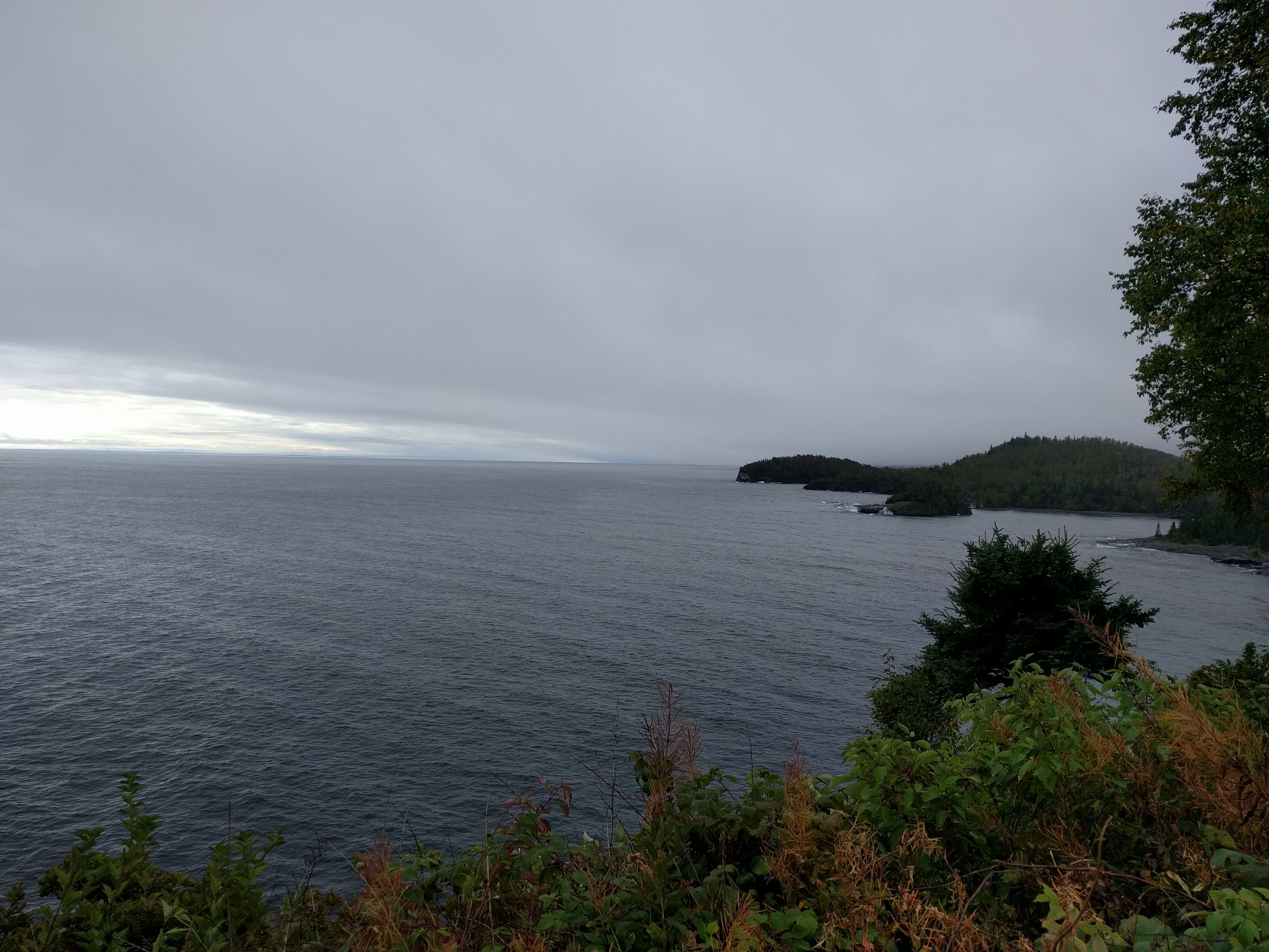Lake Superior, looking west from Split Rock Lighthouse