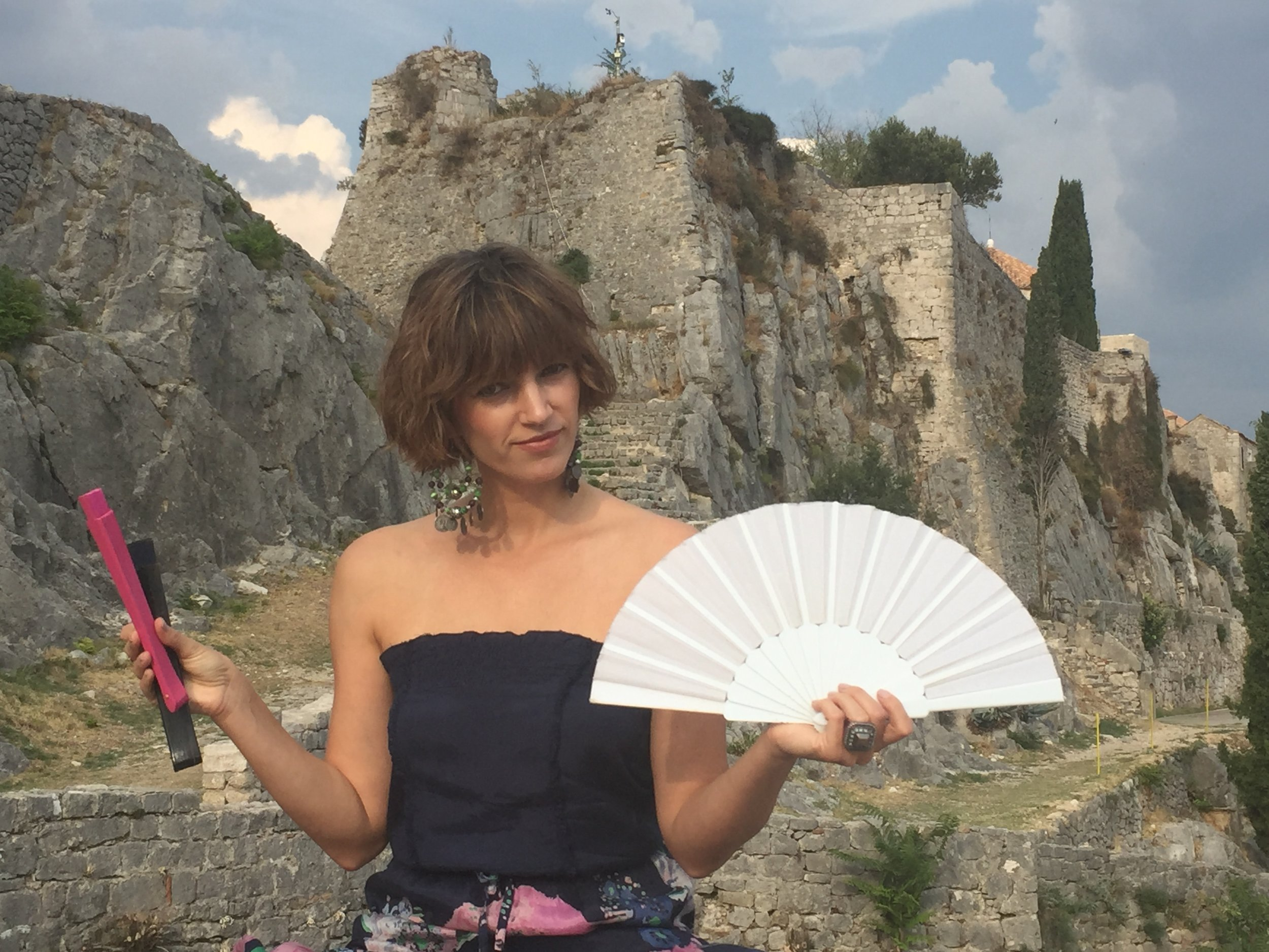 Hand fans at the Castle