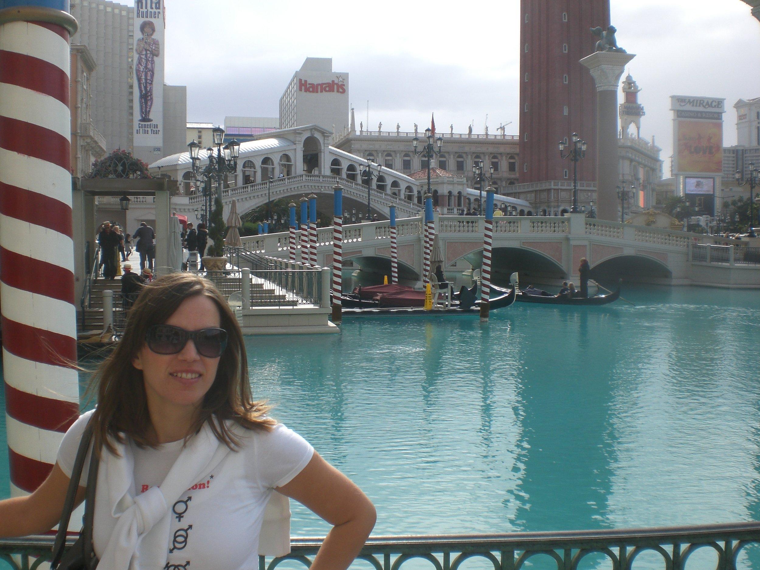 Blue Venetian Lagoon in Las Vegas, 2008