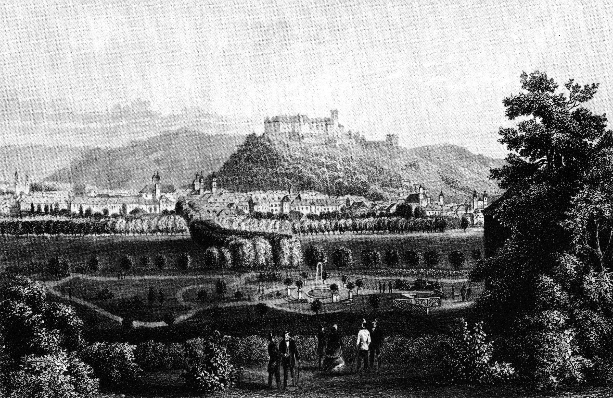 """Tivoli Park in 1855, Archiv """"Deutschland und die Welt"""""""