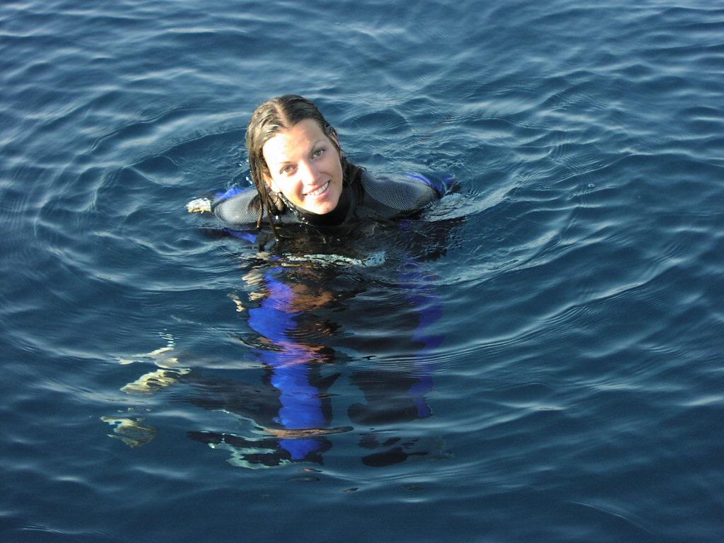 Dark blue sea and me