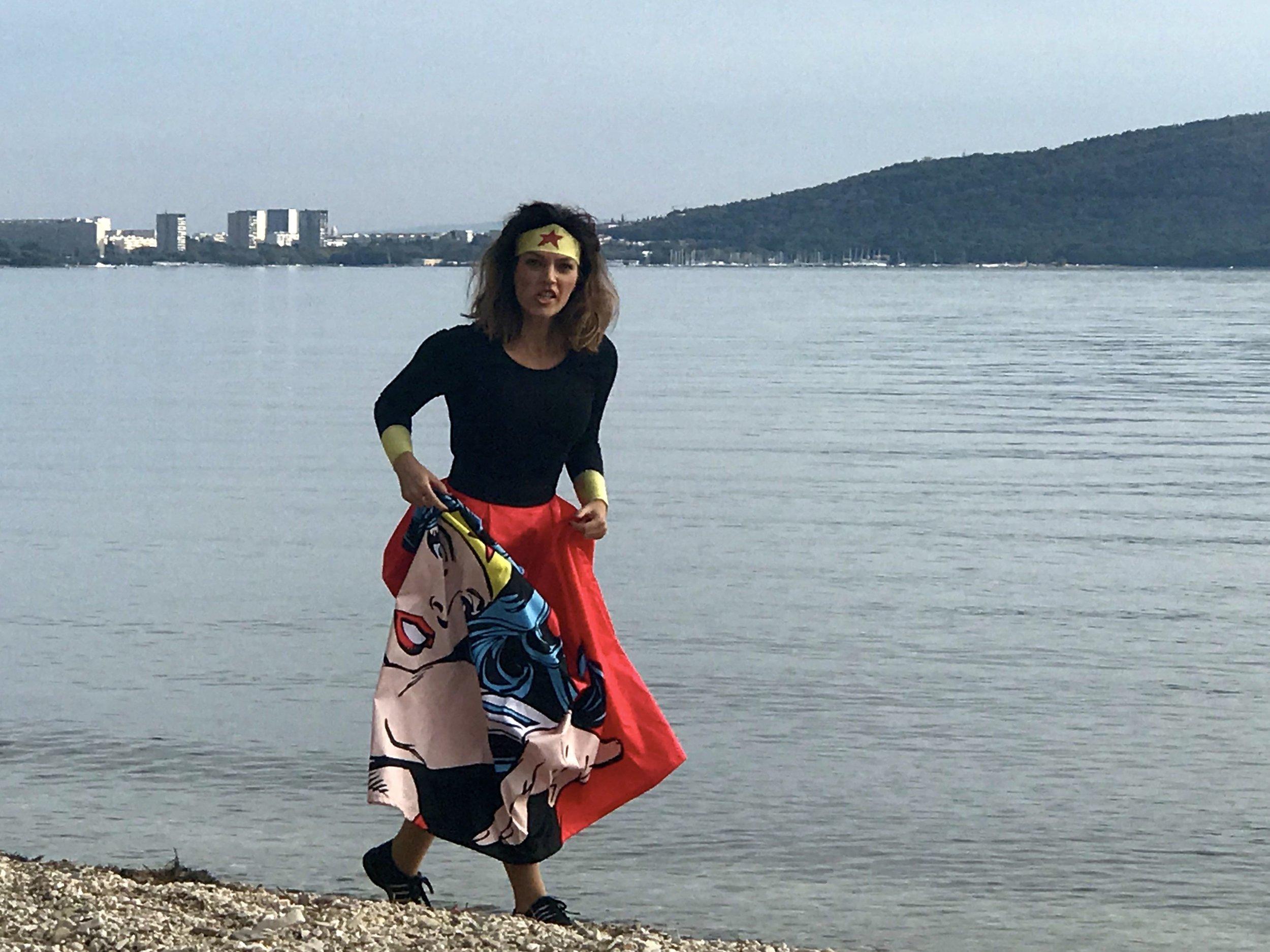 Wonder Woman saving the world