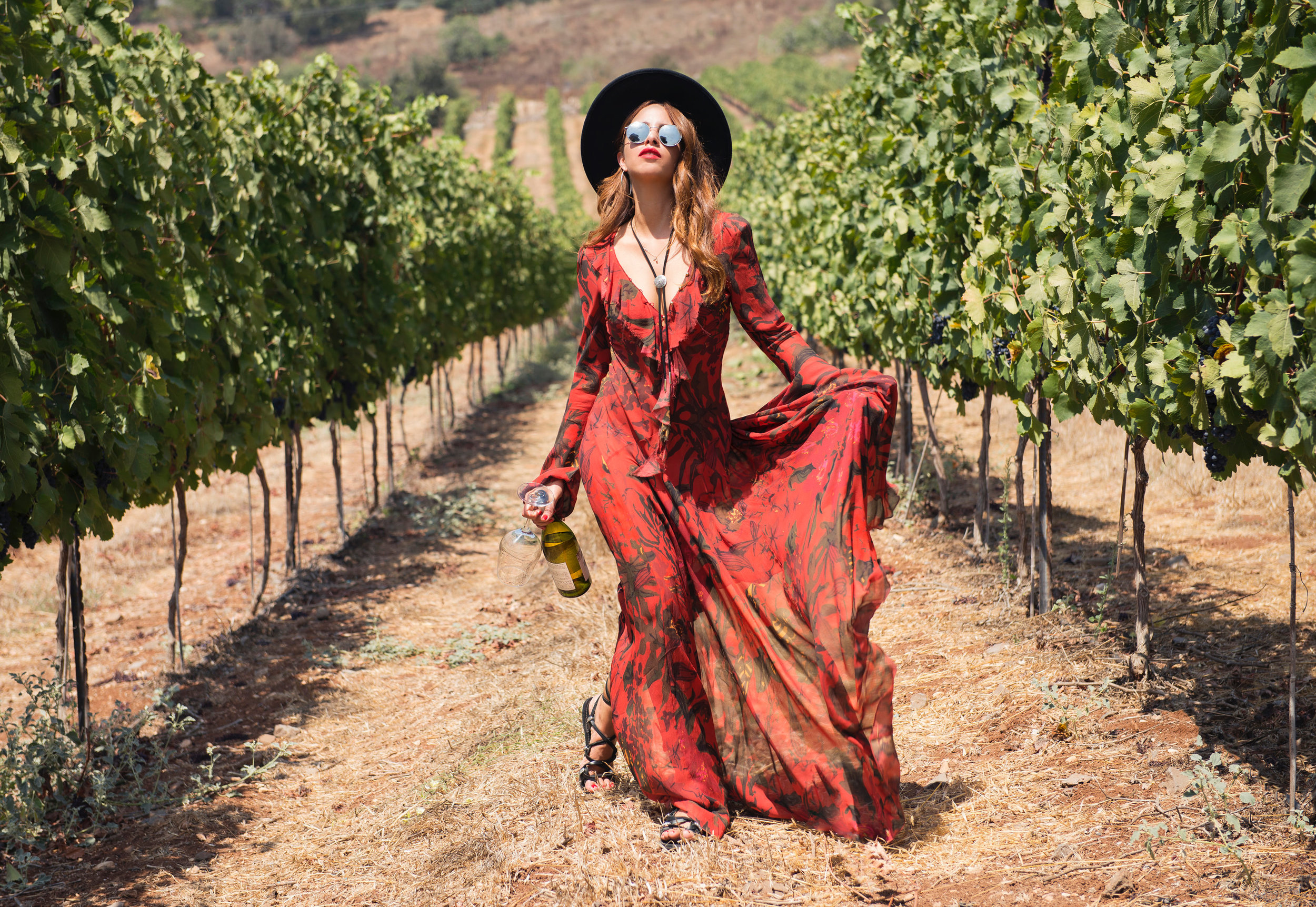 Shira Barzilay In Vineyard Searching for the Muses