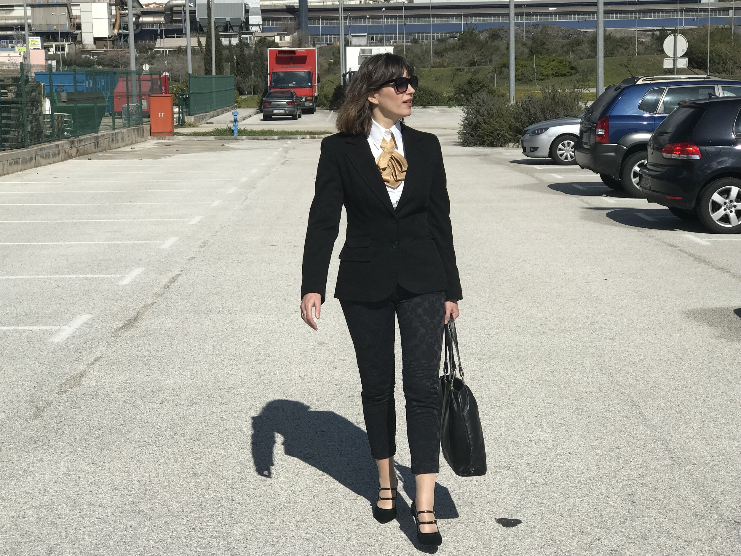 Business Formal Look Walking to a Meeting
