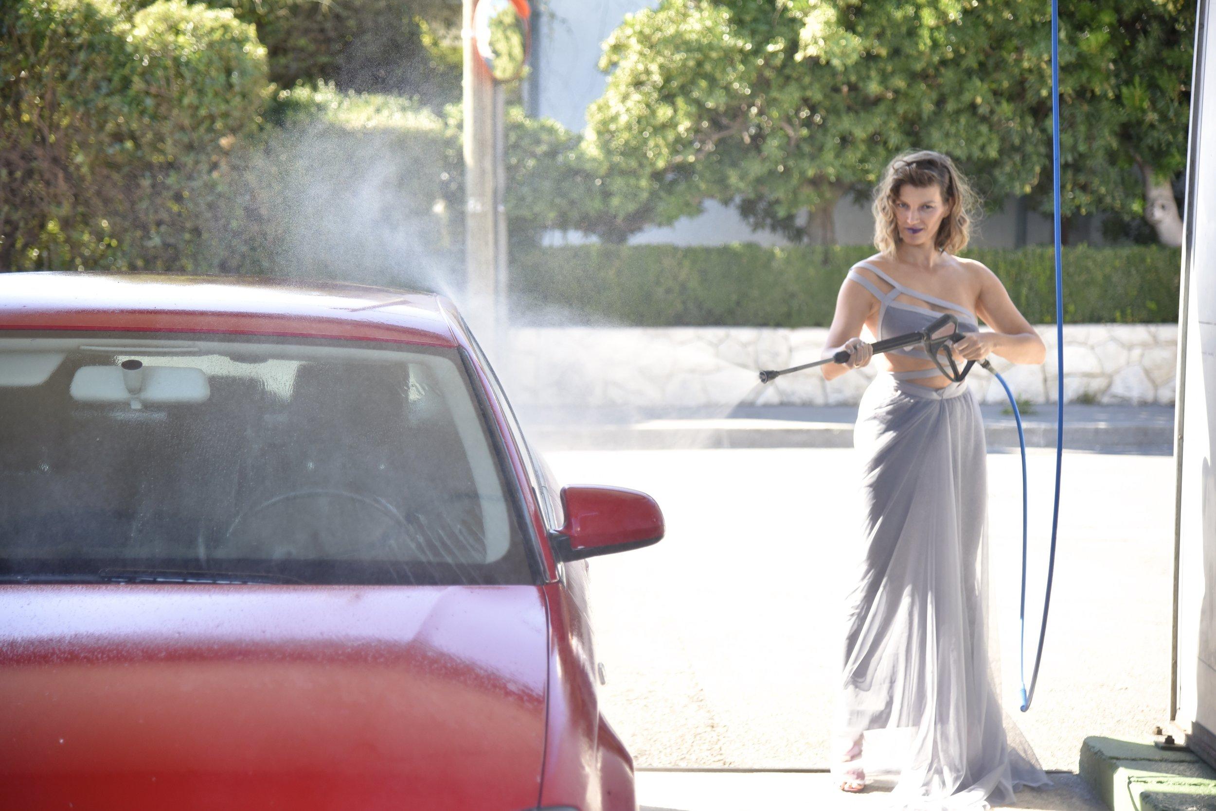 Glamorous car washing