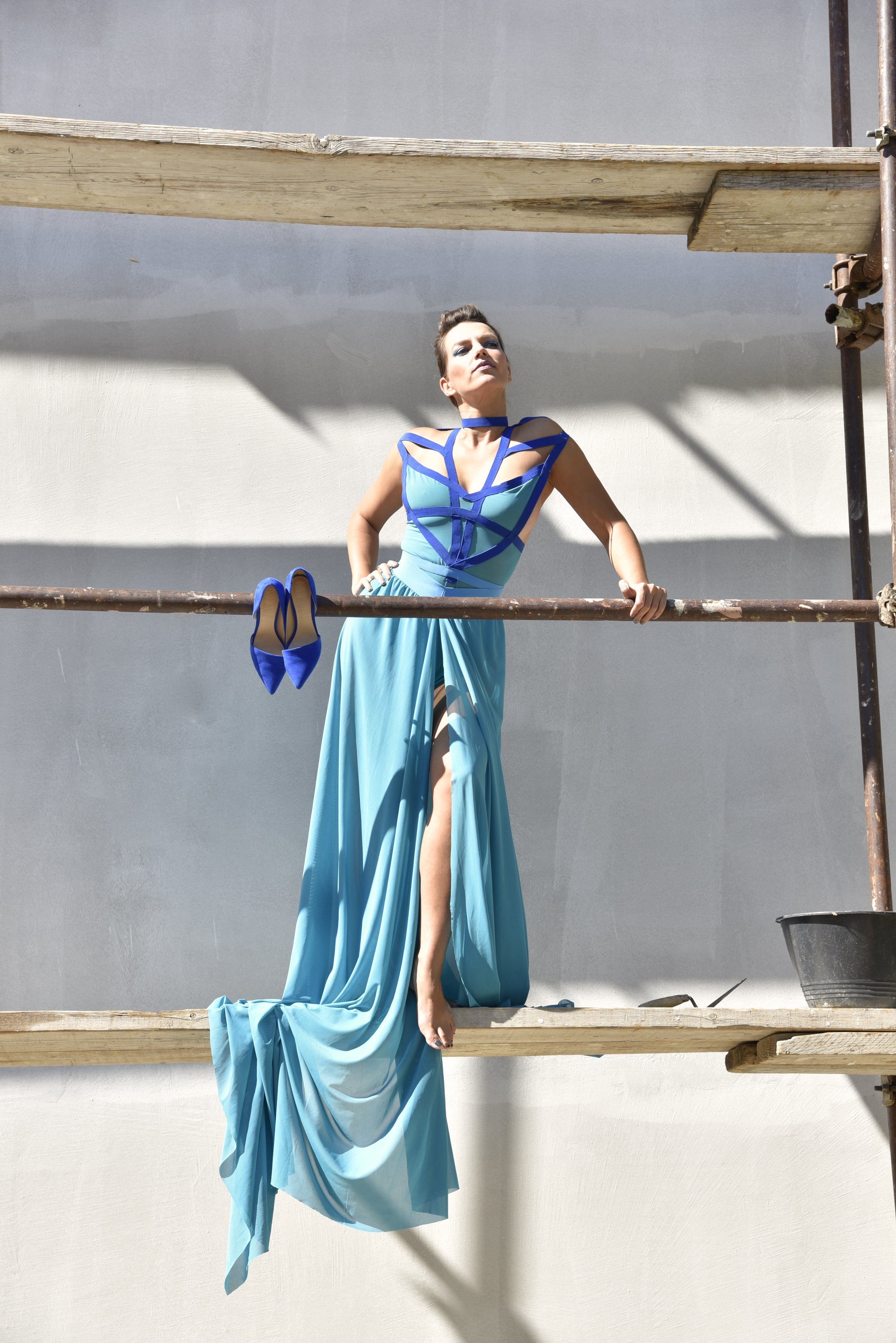 Like a blue goddess