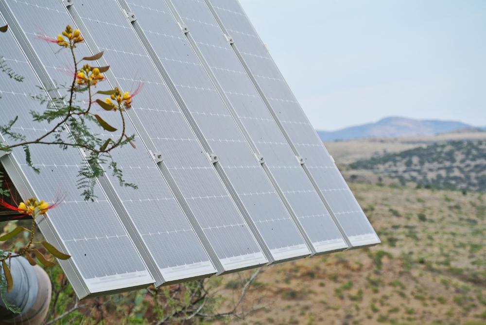 Solar panels at Arcosanti  © Shannon Moore