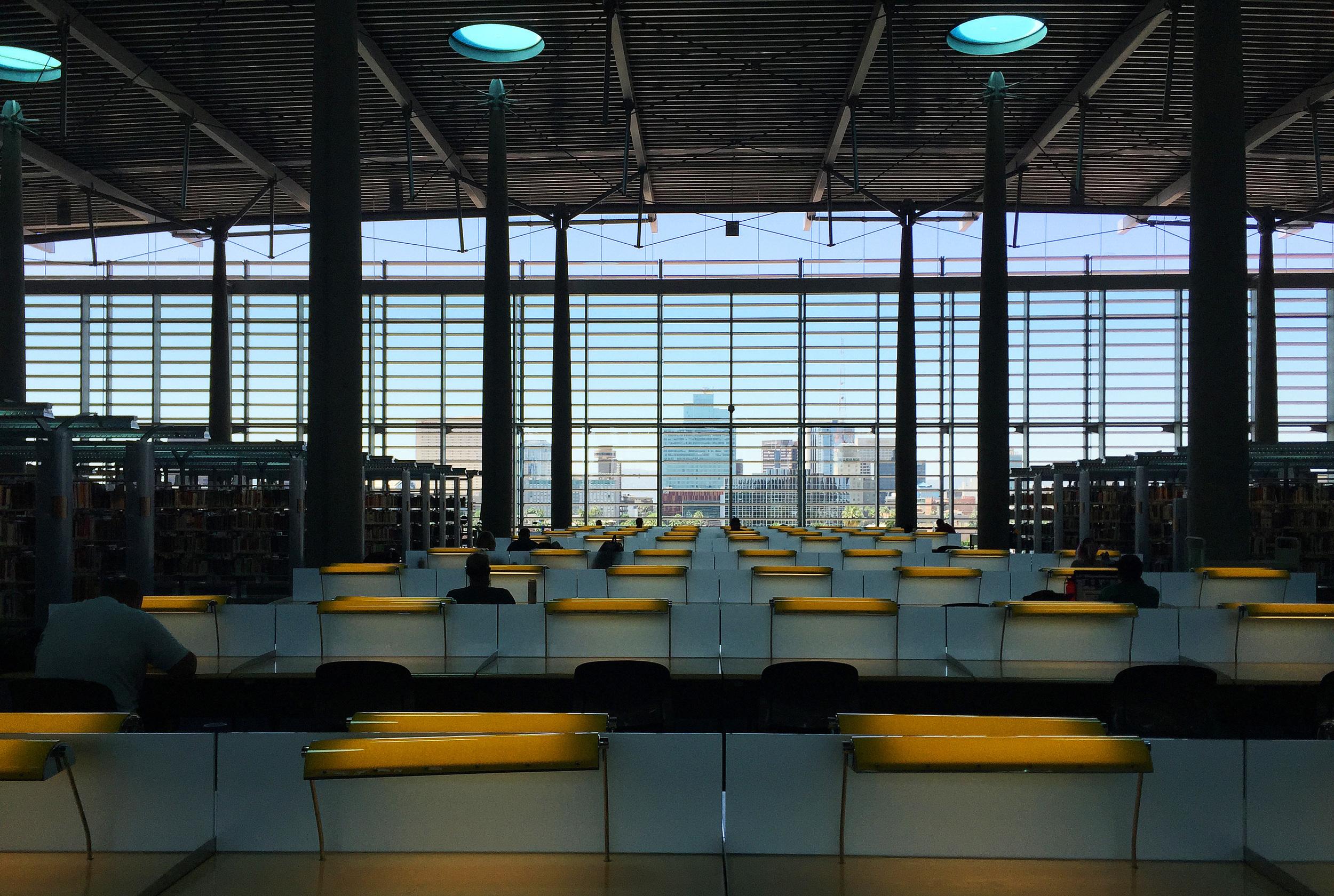 Burton Barr Public Library with circular skylights © Shannon Moore