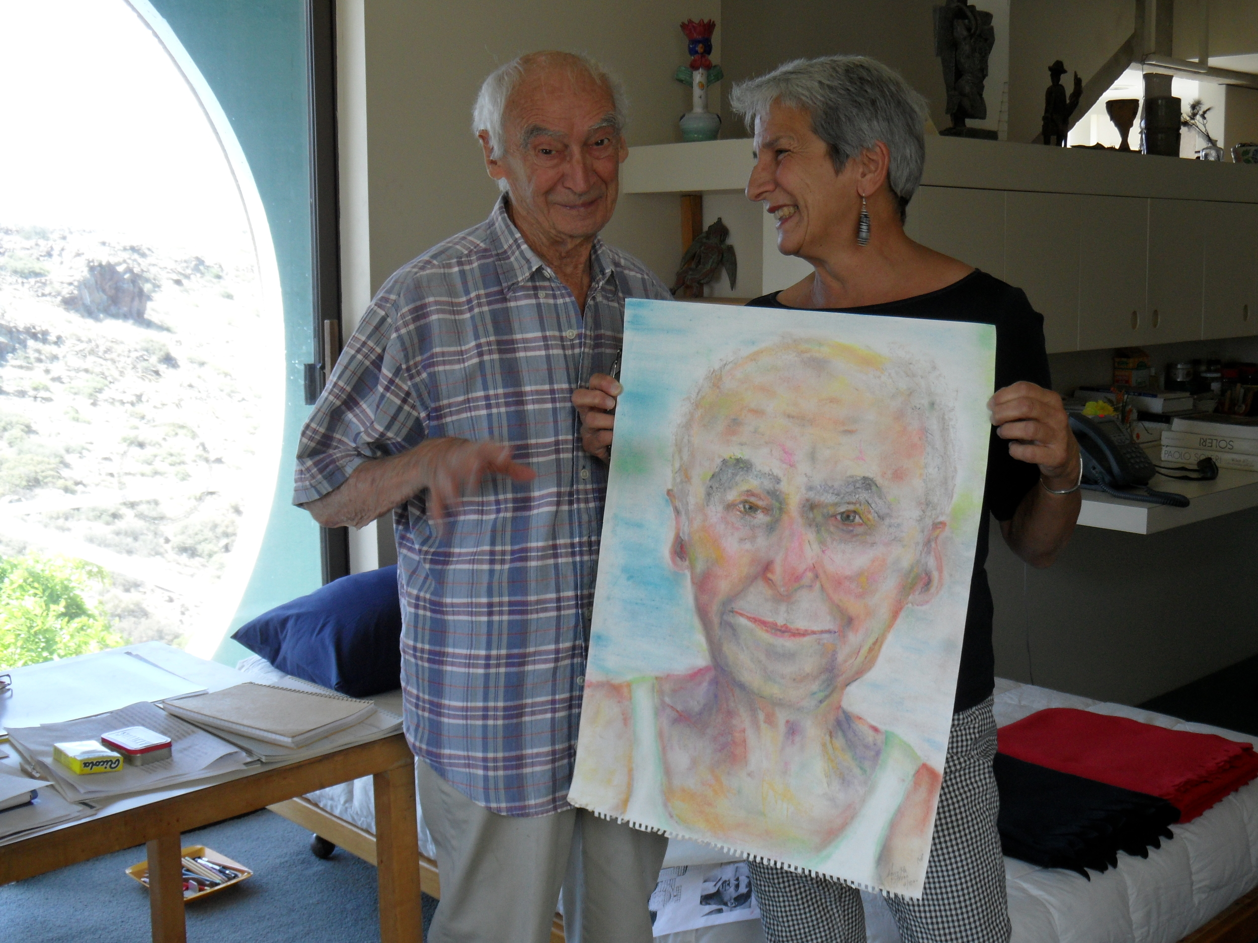 Marietta Strano with Paolo Soleri © Cosanti Foundation