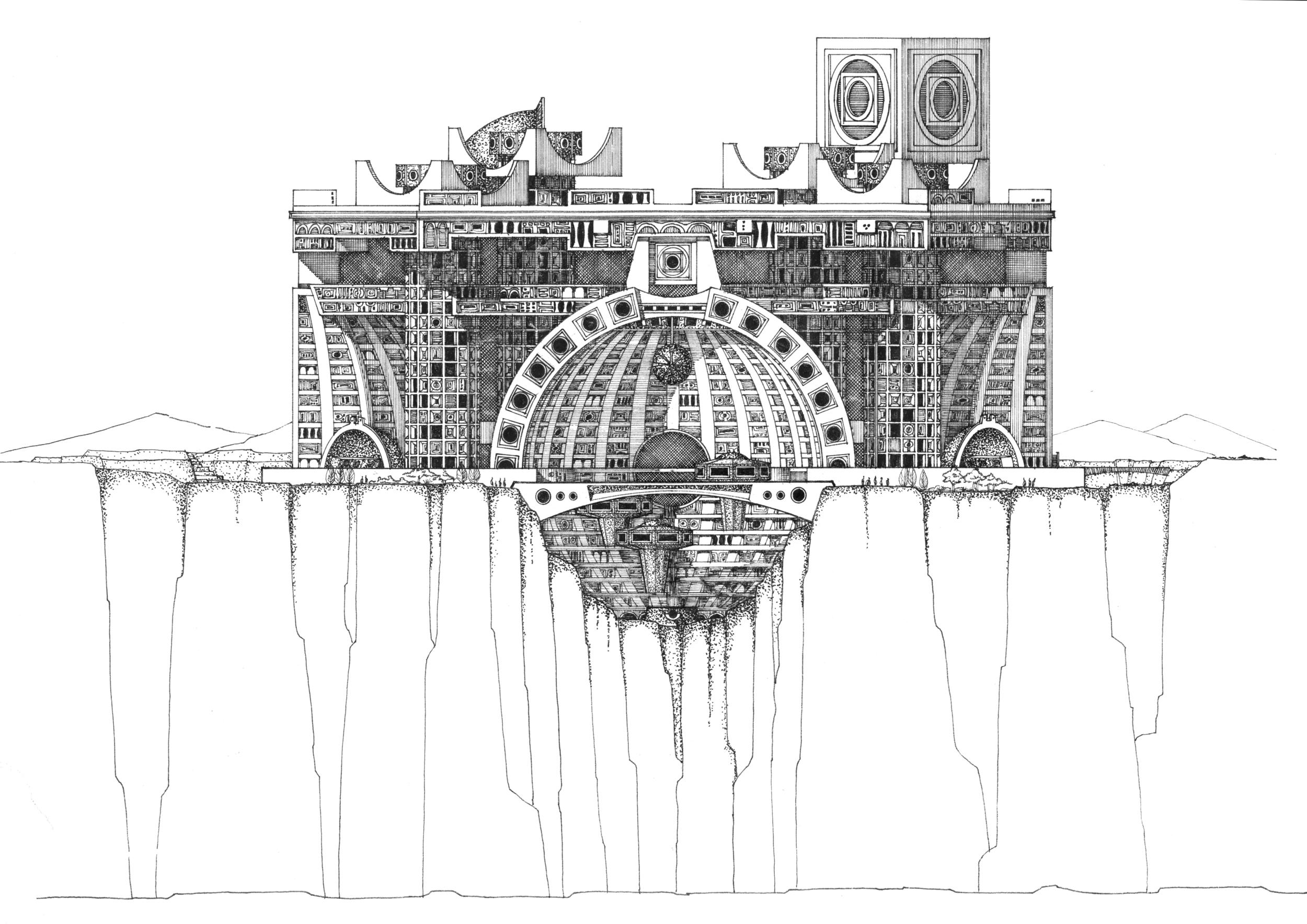 An original design for Arcosanti © Cosanti Foundation
