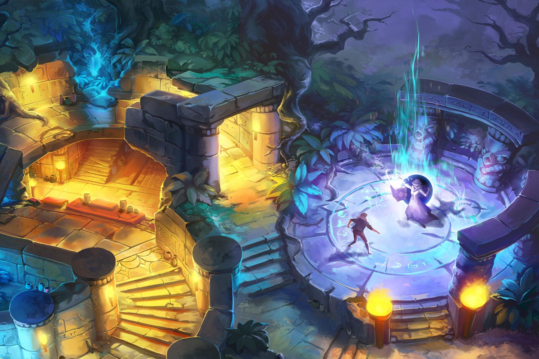 金字塔纸牌传奇 CAH为King旗下轰动一时的手机游戏提供了华丽的场景设计