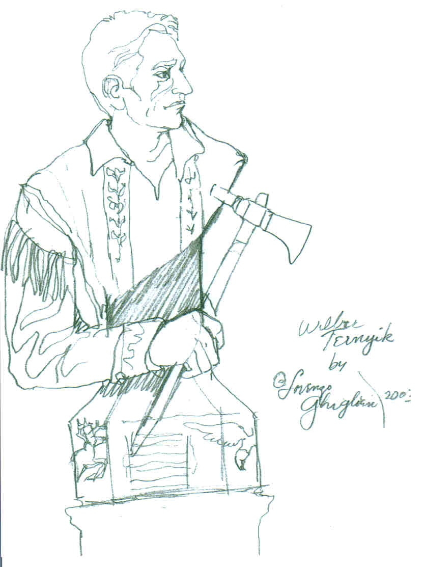 The sketch for the bronze of Wilbur E. Ternyik designed by Lorenzo Ghiglieri, Wilsonville, OR
