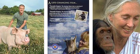 Above photos: Gene Baur, Cheri Vandersluis and Dr. Jane Goodall