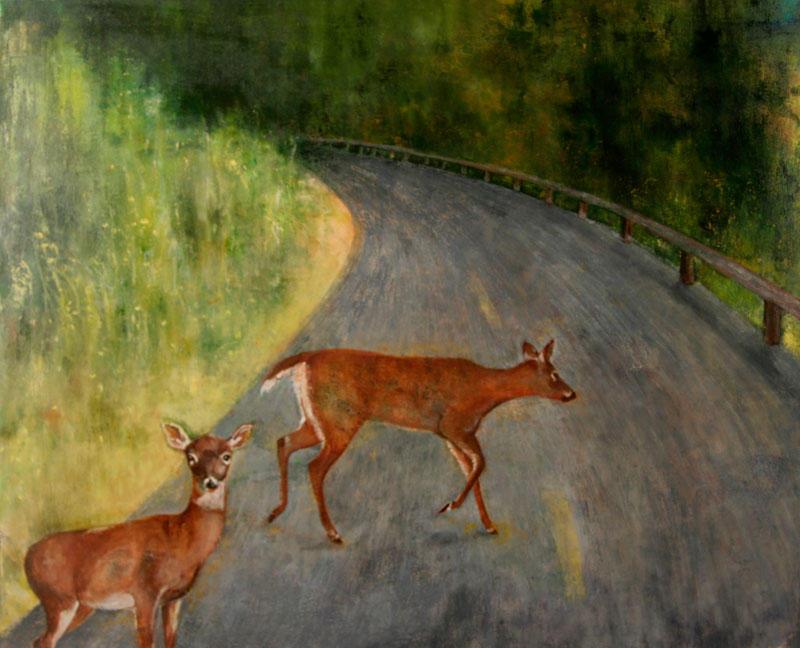 """Painting """"Crossing Over"""" by Janell O'Rourke"""