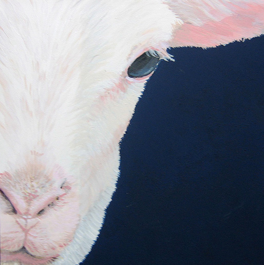 """Compassion Arts Festival 2016 painting """"Lamby"""" by Jane O'Hara"""