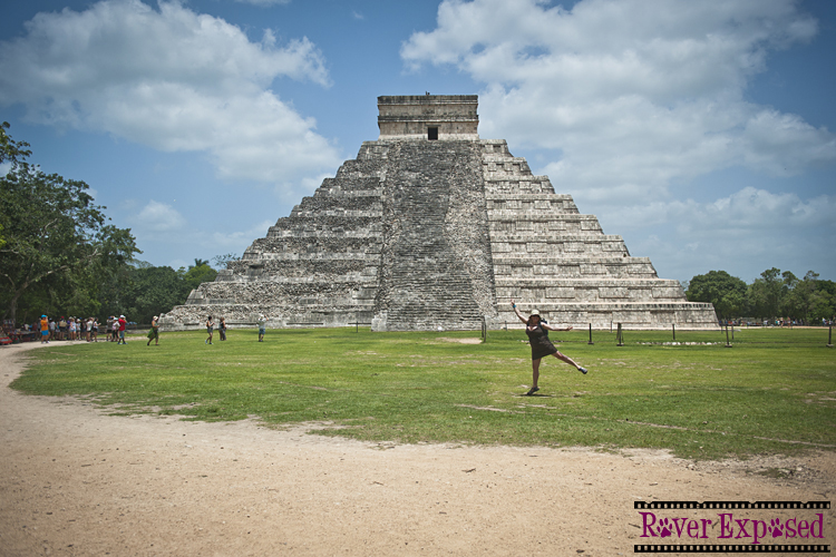 being a dork at Chichen Itza