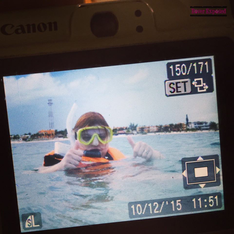 proof I went snorkeling!