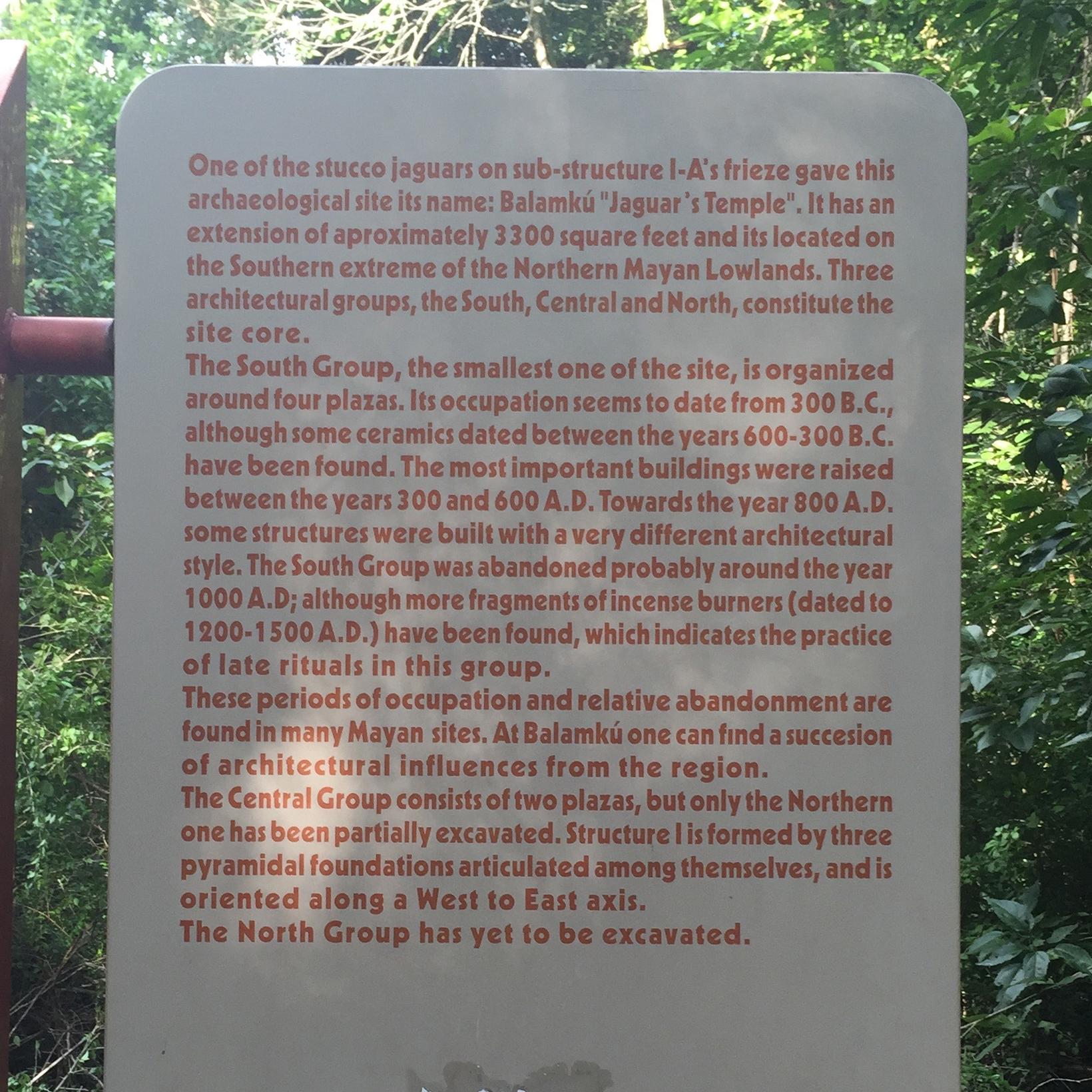 some details about Balamku