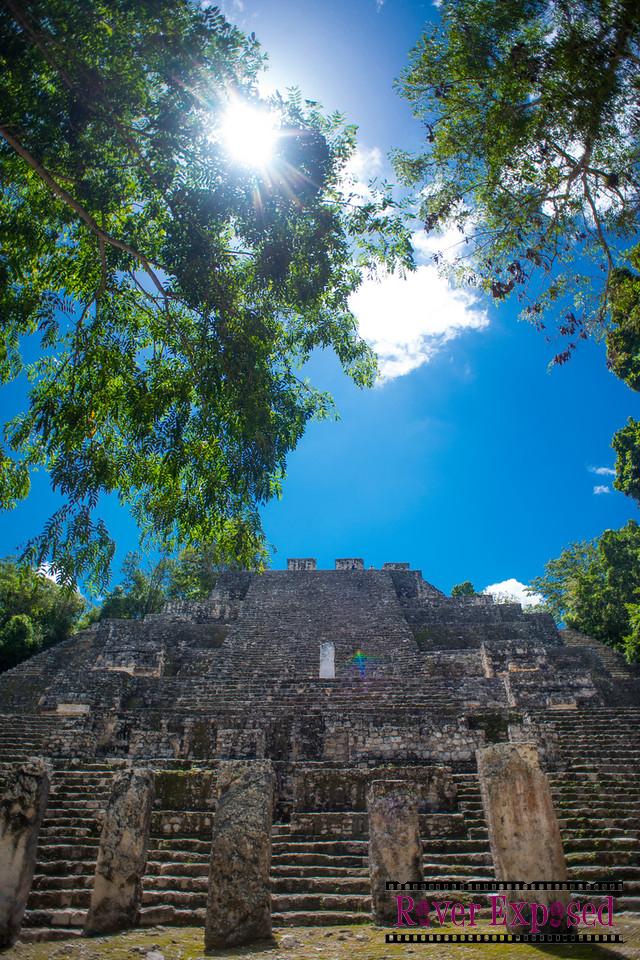 Structure 2 - which dwarfs El Castillo at Chichen Itza